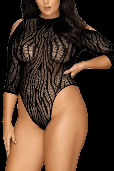 Body im Zebra-Look Plus Size