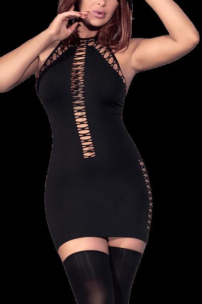 Minikleid mit Cut-Outs schwarz