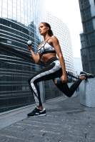Fitness Leggings schwarz/weiß