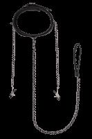 Halsfessel mit Leine & Nippelklemmen