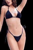 3tlg. Bikini-Set schwarz