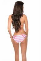 Neckholder Bikini rosa/weiß