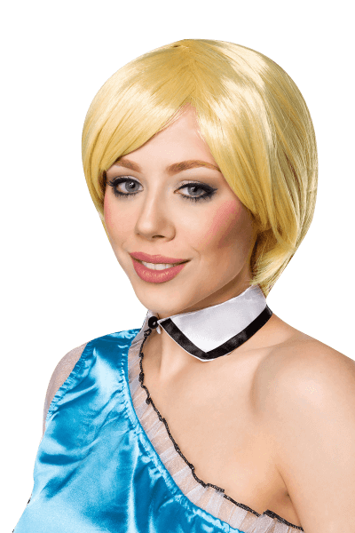 Blonde Perücke kurz