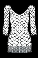 Netzkleid aus groben Maschen