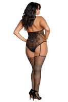 Ouvert Bodystocking mit Spitze Plus Size