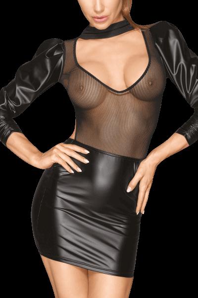 Wetlook-Netz-Kleid