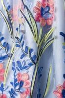 3tlg. Luxus Dirndl in blau/rosa/weiß
