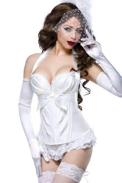 Burlesque Corsage weiß
