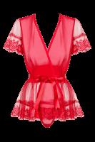 Kimono in rot mit Schleife