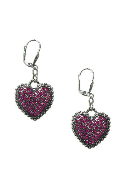 Ohrringe in Herzform pink