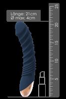 wärmender Vibrator mit Rippen - 21cm