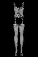 schwarzer ouvert Bodystocking mit Muster