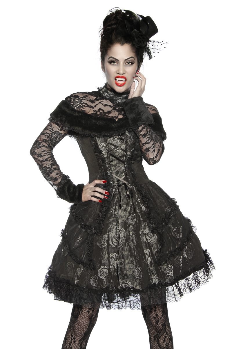 vampir kost m schwarz hexen vampire fasching. Black Bedroom Furniture Sets. Home Design Ideas