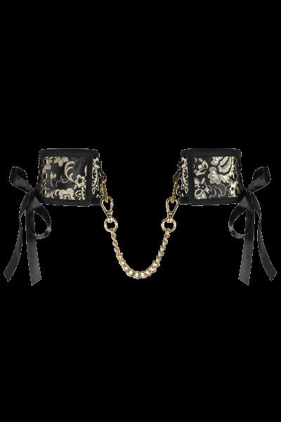 Handschellen schwarz/gold