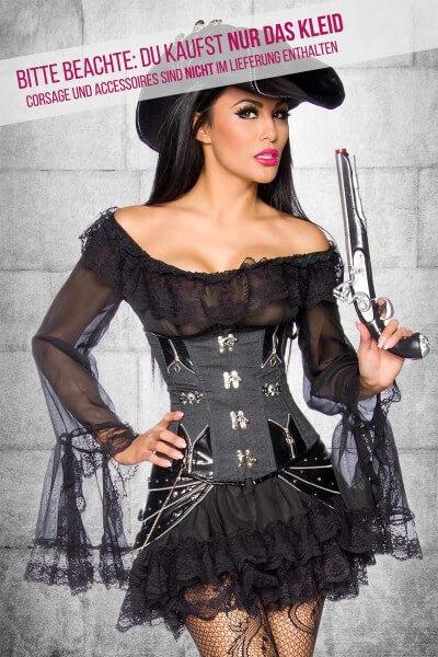 Piratenkleid schwarz