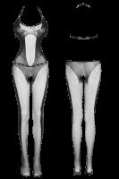 Bodystocking aus Netz mit Nieten