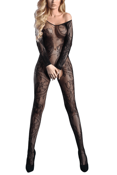 Catsuit ouvert mit Muster