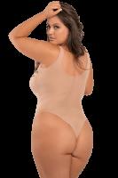 Body transparent mit Rosendruck Plus Size