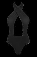 Neckholder Badeanzug in schwarz