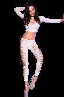 Top + Leggings in Weiß