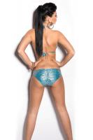 Neckholder Bikini türkis mit Ketten