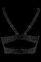 Bustier mit Bändern schwarz/beige