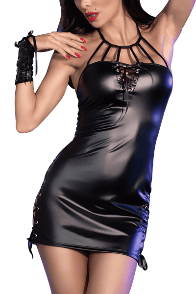 Sexy Wetlook Minikleid