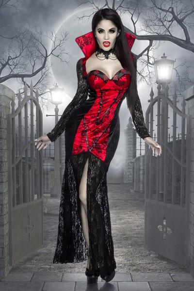 Vampirkostüm Rot/schwarz