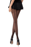 Schwarze matte Strumpfhose