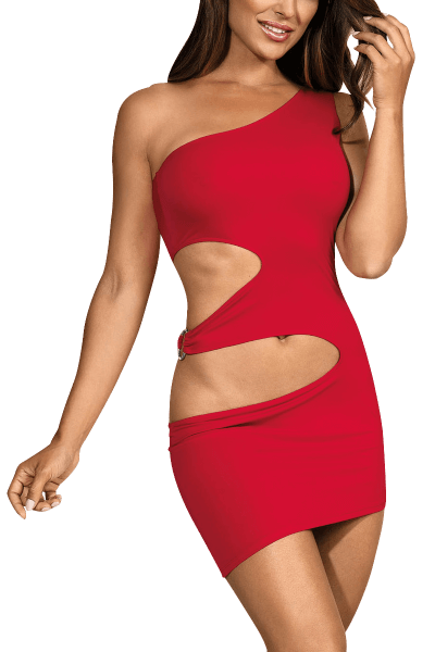 Rotes Minikleid mit Cut-Outs