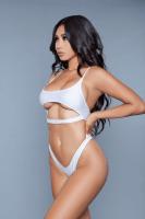 Bikini mit Cut-Out weiß