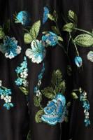 3tlg. Luxus Dirndl mit Blumenschürze - schwarz/grün
