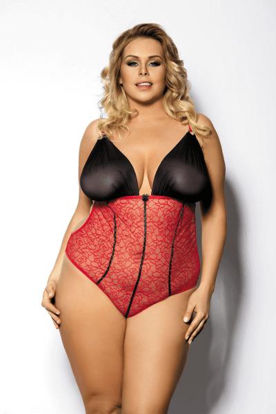 Body Plus Size rot/schwarz