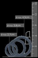 3tlg. breites Penisring-Set - Ø 3,2/3,8/4,5cm