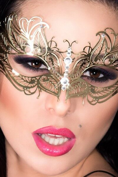 Goldene Luxus Maske