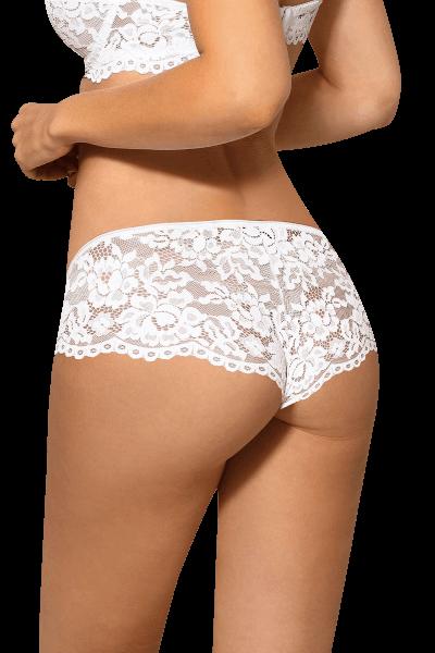 Panty mit Spitze weiß