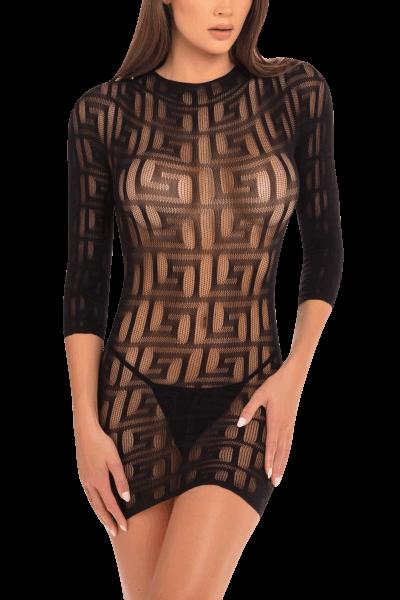 Minikleid mit grafischen Mustern