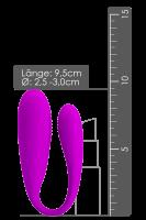 Paarvibrator mit Fernbedienung pink