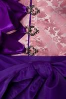 2tlg. Luxus Dirndl in rosa/lila