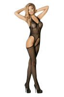 Ouvert Bodystocking mit Ajourmuster