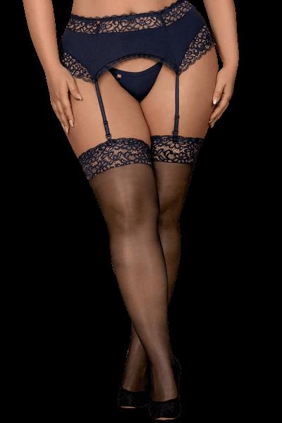 Stockings mit blauer Spitze