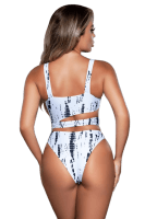 Sexy Badeanzug schwarz/weiß