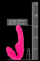 Vibrierender Strapless Strap-On - 21,8cm