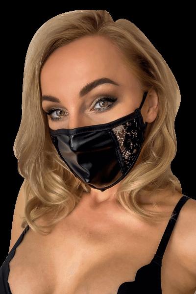 Mund- und Nasen-Maske mit Spitzeneinsätzen