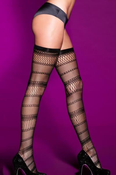 Hohe Netz-Stockings