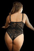 Push-Up Body mit Spitze und Riemchen Plus Size