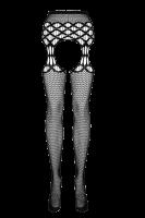 Strapsstrumpfhose mit Muster Plus Size