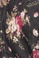 3tlg. Dirndl Set in schwarz/rosa