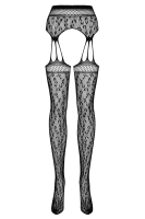 Strapsstrumpfhose Leomuster Plus Size