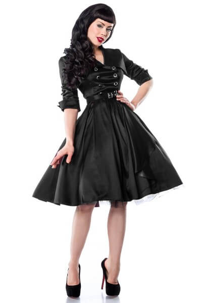 Satin Rockabilly-Kleid